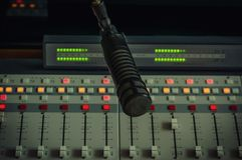 Correcte Mixer en microfoon royalty-vrije stock fotografie
