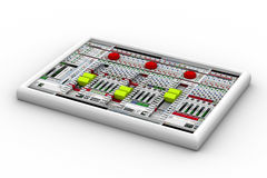 Correcte mixer voor audioopname Royalty-vrije Stock Foto