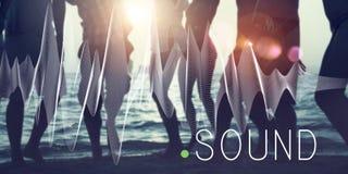 Correcte Muziekgolf Melody Graphic Concept stock foto