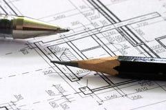 Correction blueprints Stock Image