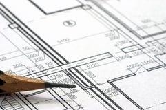 Correction blueprints Stock Photos