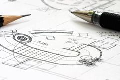 Correction blueprints. Correction construction blueprints stock images