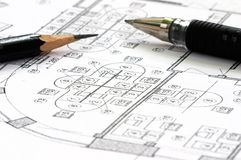 Correction blueprints Royalty Free Stock Image