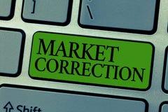 Correction du marché des textes d'écriture de Word Concept d'affaires pour quand chute des prix 10 pour cent de la semaine 52 de  image libre de droits