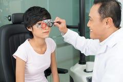 Correction of eyesight Stock Photo