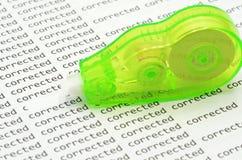 Correction roller Royalty Free Stock Photos