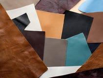Corrections en cuir de couleur différente Images libres de droits