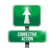 Corrective action sign post illustration design Stock Images