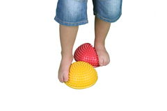 Corrective exercises for children with flat feet Stock Image