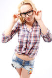 Corrective lenses  a fashion accessory styling Stock Photography
