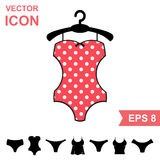Corrective Lingerie Vector Icon on White Background. Modern Youth Underwear Clothes Royalty Free Stock Photo