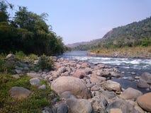 Corredeira do rio Foto de Stock Royalty Free
