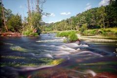 Corredeira do rio de Minho Imagem de Stock
