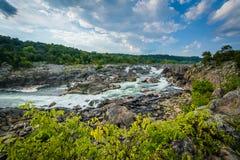 A corredeira no Rio Potomac em Great Falls, visto de Olmsted é foto de stock royalty free