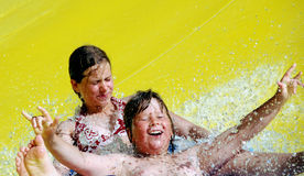 Corrediça de água Imagem de Stock Royalty Free