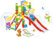 Corrediça do ` s das crianças em um parque Fotos de Stock Royalty Free