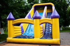 Corrediça Bouncy do castelo Foto de Stock Royalty Free