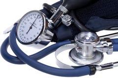 Corredo aneroide di pressione sanguigna immagine stock