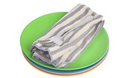 Corredo del piatto e della coltelleria di cena Fotografia Stock