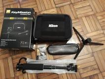 Corredo di azione di Nikon Keymission 360 Fotografia Stock Libera da Diritti