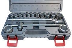 Corredo di strumenti dell'automobile della cassetta portautensili Immagine Stock