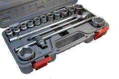 Corredo di strumenti dell'automobile della cassetta portautensili Fotografia Stock Libera da Diritti