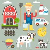 Corredo domestico di vettore dell'azienda agricola Fotografie Stock Libere da Diritti