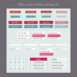 Corredo moderno del modello dello schermo dell'interfaccia utente per Fotografia Stock