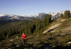 Corredor alpino foto de stock royalty free