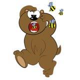 Corredor animal dos desenhos animados do urso de bee.cute   Imagem de Stock Royalty Free