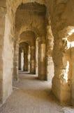 Corredor antigo com as ruínas Imagem de Stock