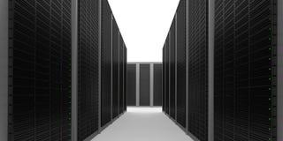 Corredor Center de dados Imagens de Stock