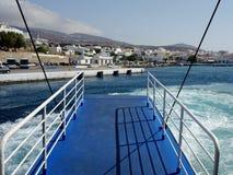Corredor central de passageiro, balsa grega Imagem de Stock