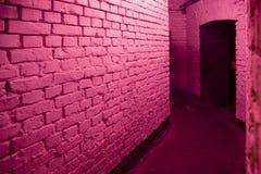 Corredor cor-de-rosa foto de stock