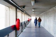 Corredor da barreira de Tamisa em Londres imagens de stock royalty free