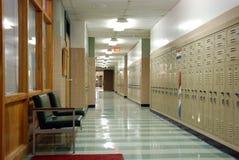 Corredor da escola de Hish Imagem de Stock