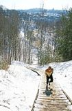 Corredor da fuga, corredor da montanha fotografia de stock royalty free