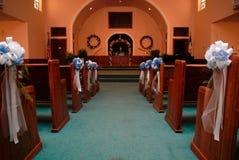 Corredor da igreja para o casamento fotografia de stock royalty free