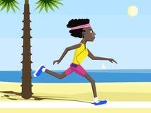 Corredor da mulher negra ilustração stock