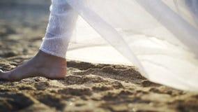 Corredor da noiva no Sandy Beach video estoque