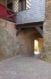 Corredor da pedra do castelo Foto de Stock Royalty Free