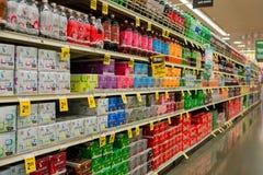 Corredor da soda de Safeway Imagem de Stock