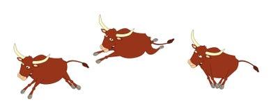 Corredor de Bull ilustração stock