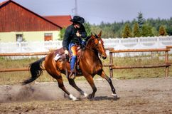 Corredor de caballo Imagen de archivo libre de regalías