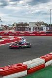 Corredor de Karting en la acción Imagen de archivo