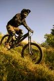 Corredor de la bici Fotografía de archivo