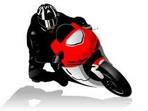 Corredor de la motocicleta Fotos de archivo libres de regalías