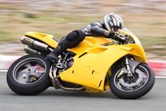 Corredor de la motocicleta Imágenes de archivo libres de regalías