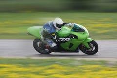 Corredor de la motocicleta de Sportbike foto de archivo libre de regalías