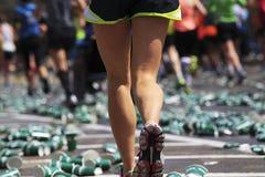 Corredor de maratón Imagen de archivo libre de regalías